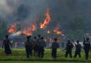 fire rohingya village